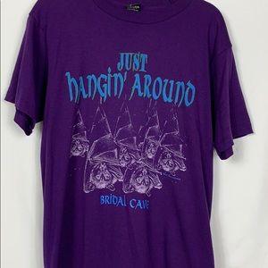 Screen Stars Best purple tee shirt size Lg